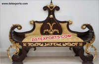 Wedding Black Gold King Sofa