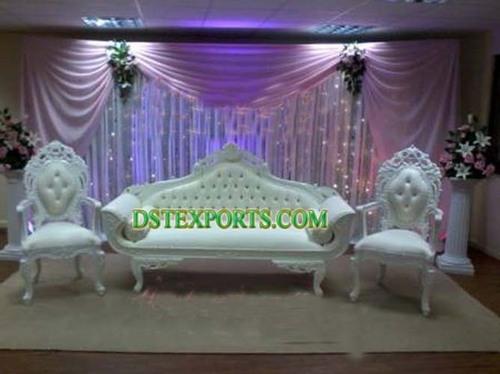 Royal Wedding White Sofa Set