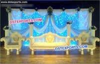 Wedding Crystal Chaise Set