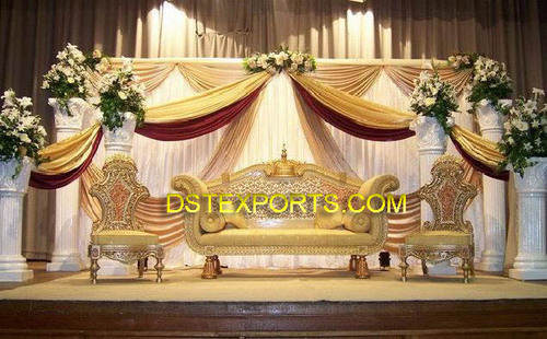 NEW GOLDEN CARVED SOFA