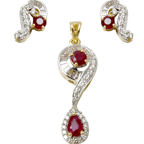 Red ruby and diamond gold pendant set fashionable designer micro red ruby and diamond gold pendant set fashionable designer micro pave pendant design mozeypictures Images