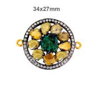 Slice Diamond Pave Spacer Finding Jewelry