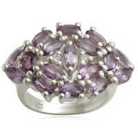 MARQUISE AMETHYST SILVER RING 925STERLING SILVER GEMSTONE WOMEN RING WHOLESALE
