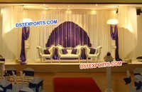 Wedding Silver Carved Stage Furniture