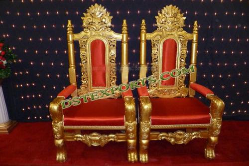 Wedding Gold Bridegroom Chairs
