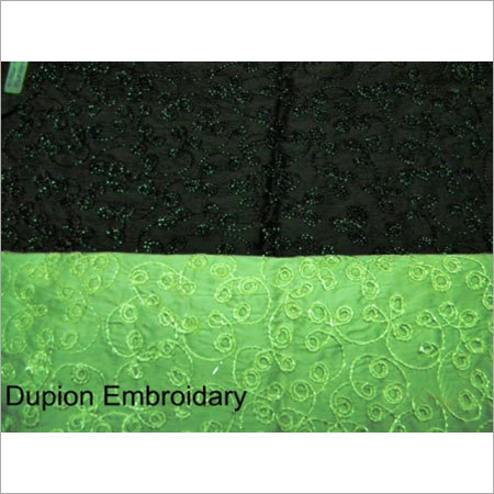 Dupioni Embroidered Fabric