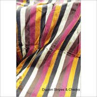 Check And Stripe Dupion Fabrics