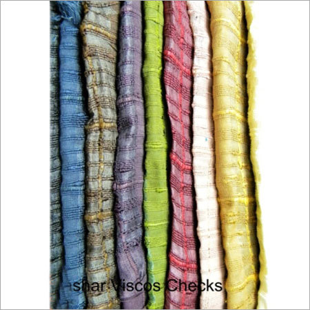 Tashar Viscose Checks Fabrics