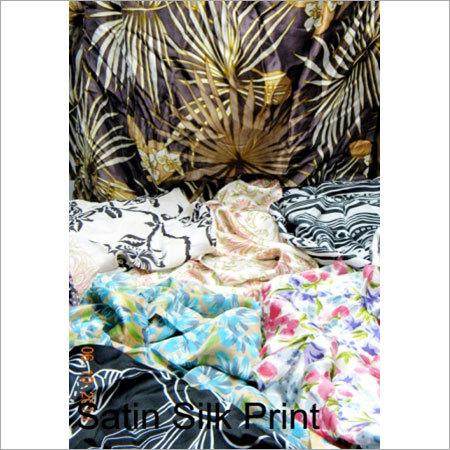 Satin Silk Print Fabric