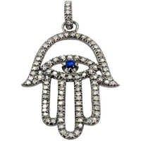 Pave Diamond Hamsa Pendant