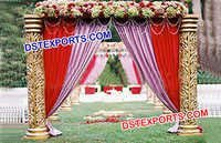 Wedding Golden Pillar Welcome Gate