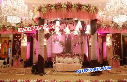 Crystal Decor Mandap For Wedding