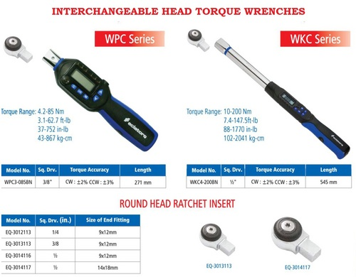 Interchangeable Head Torque Wrenches