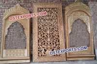 Indian Wedding Stage Set Fiber Backdrop Panels