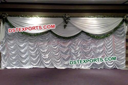 Wedding Stage White Elegent Backdrop