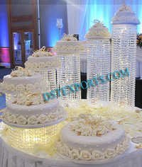 Wedding Cake Table Crystal Decors