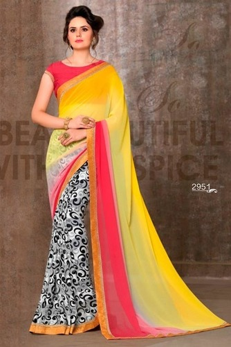 Multi Color Georgette Casual Wear Saree