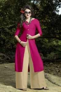 Pink fancy kurti