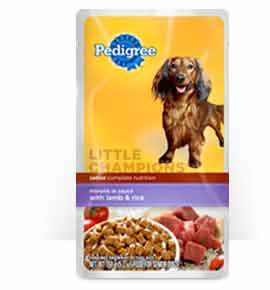 Pedigree Senior Complete Nutrition Morsels in Sauce with Lamb & Rice(Wet)