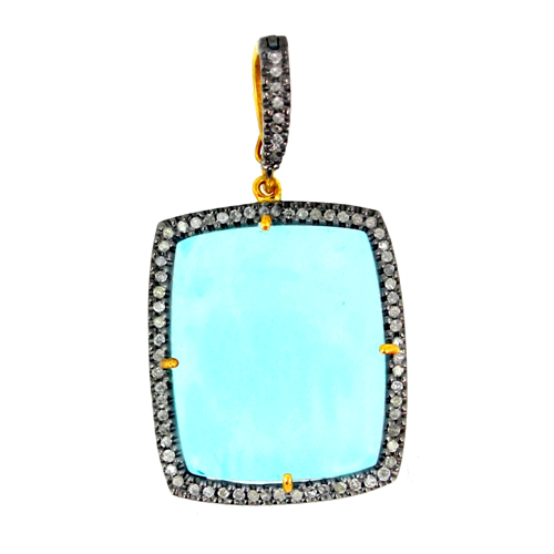 Gemstone Diamond Pendant Jewelry