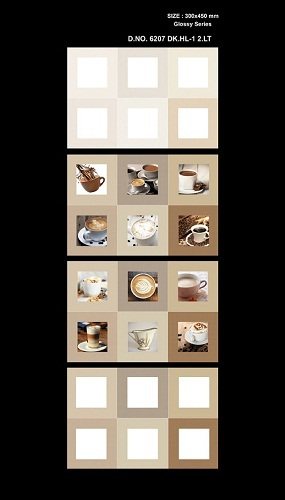 Brown Ceramic Kitchen Wall Tiles