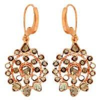 Slice Diamond 14k Gold Dangle Earring