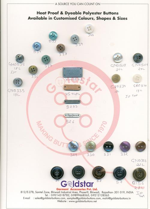 Heat Proof Polyester Buttons