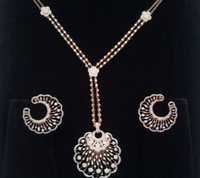 Diamond Necklaces With Earring