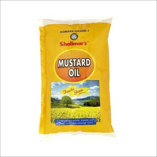 Shalimar Kachi Ghani Mustard Oil Tetra Pack 1 Ltr