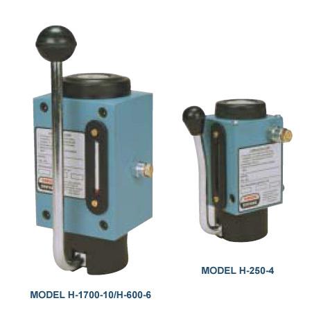 Hydraulic hand pumps