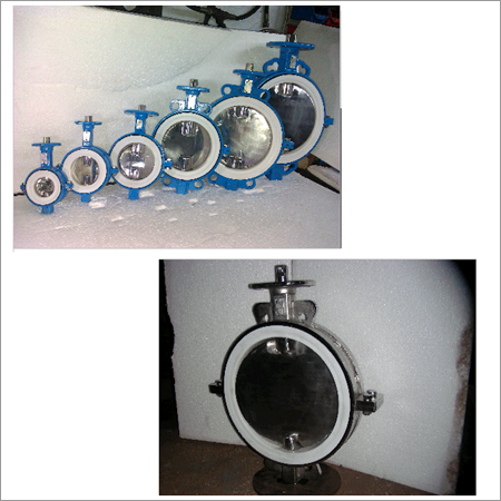 PTFE Seated Butterfly Bare Valve