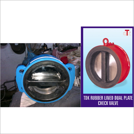 Wafer Rubber Lined Dual Plate Check Valve