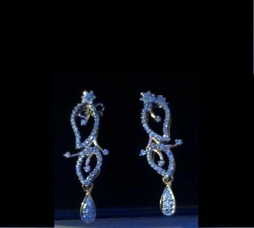 Diamond Long Earring