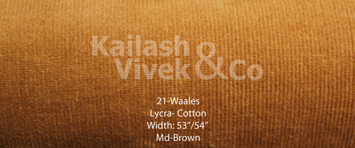21 Wales Cotton Lycra Fabric