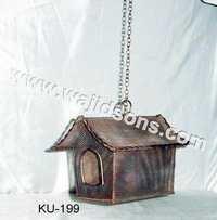 HANGING ZINC BIRD HOUSE