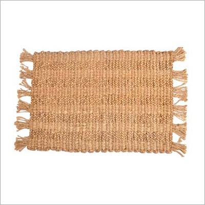 Braided Golden Jute Carpet
