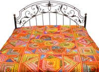 Multicolor kutch Bed sheets and  hand patch work
