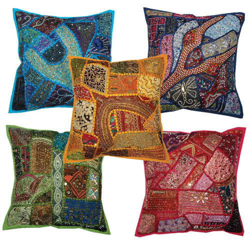 Beads Patch Work Cushion