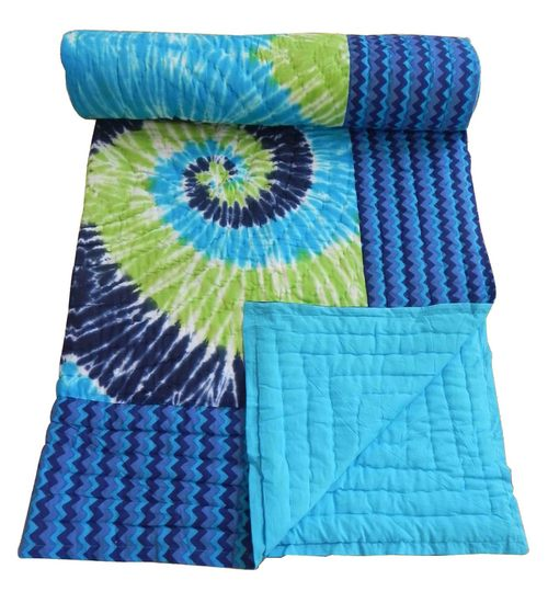 Jaipuri Single Bed Quilts Tie & Dye