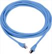 5m PowerCat 6 Shielded Patch Cord 568A/B, PVC Sheath - Blue