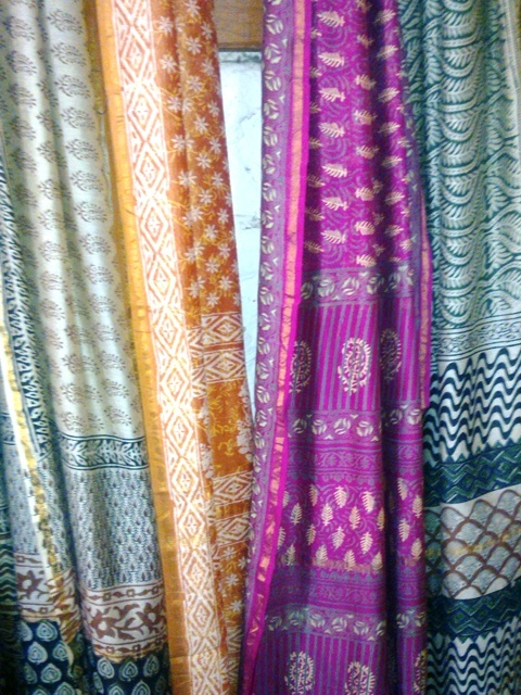 Chanderi Silk Cotton Block Printed Saree