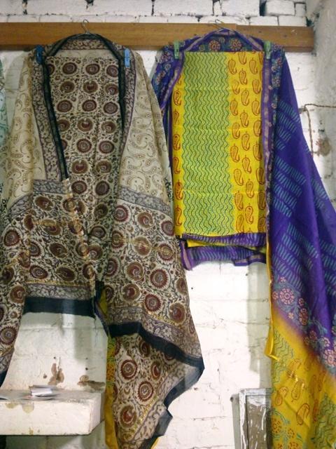Chanderi Silk Block Printed Ladies Suits