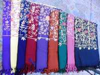 100% Pure Wool Embroidered Shawls