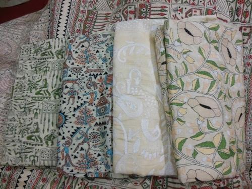 Needlework Kantha Embroidery Sarees