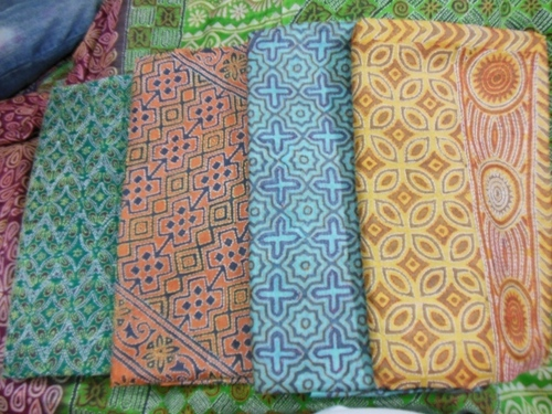 Kantha Work Tussar Silk Saree