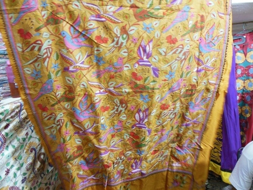 Kantha Work on Saree