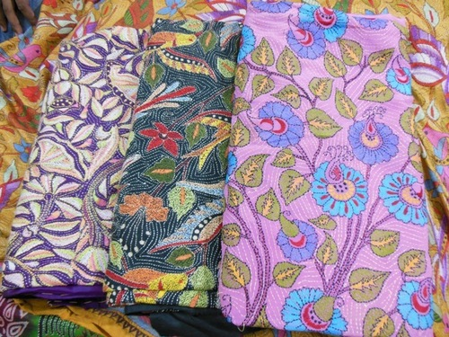 Embroidery Kantha Work Sarees
