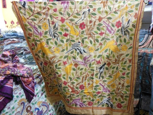 Hand Embroidered Kantha Stitch Saree