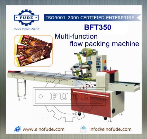 Flow packing machine