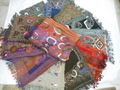 100% boil woollen embroidery stoles